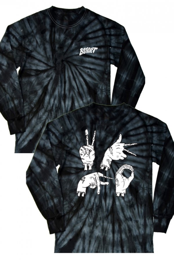 Zombie Hands Long Sleeve Tee Black Tie Dye T Shirt Boogie T T