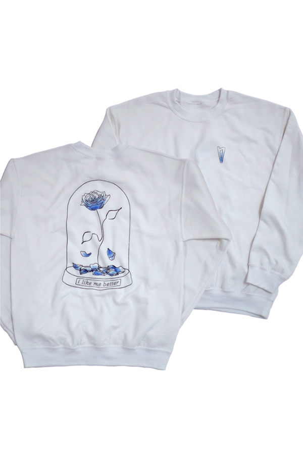 I Like Me Better Crewneck (White)