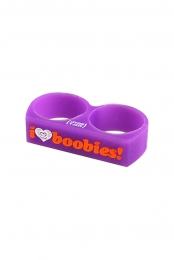 I Love Boobies Rubber Ring (Purple)