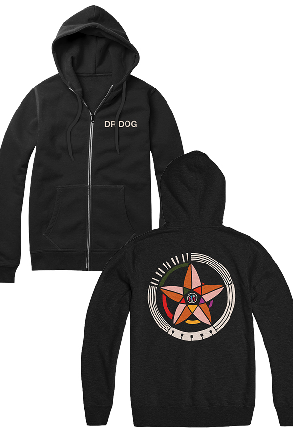 Big Hex Zip Hoodie (Black)