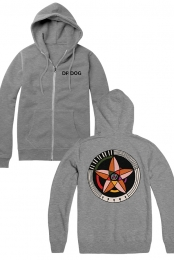 Big Hex Zip Hoodie (Heather Grey)
