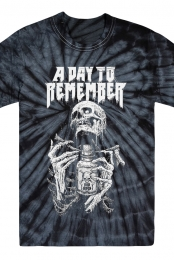 Skeleton Tie Dye Tee (Black)