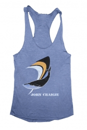 Whale Ladies Tank Top (Blue)