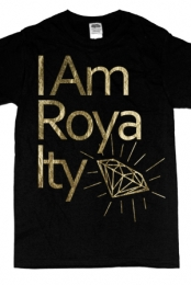 I Am Royalty Gold Foil (black)