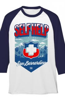 Mountains Raglan (White/Navy)