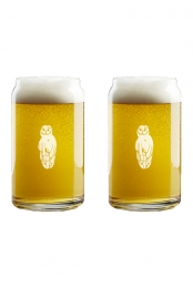 Owl Beer Glass Set