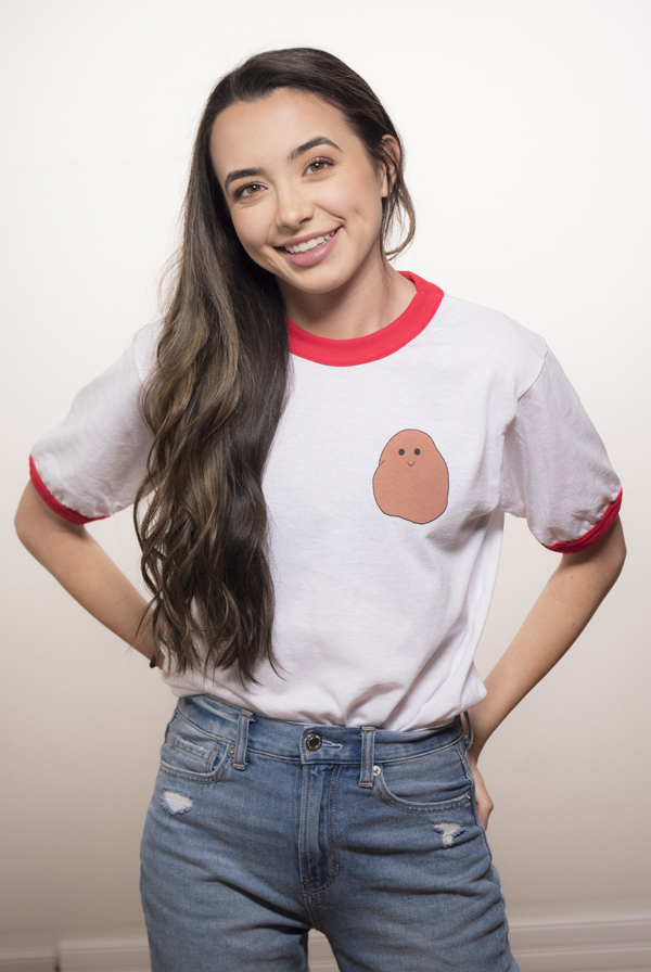 Potato Ringer Tee (White/Red)