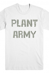 Green Plant Army Tee (White)