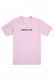Choose Love Embroidered Tee (Pink)