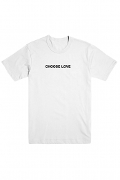 Choose Love Embroidered Tee (White)