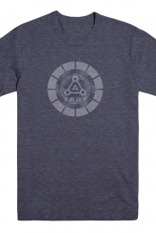 Circle Logo Tee (Heather Navy) - 3DOT Recordings