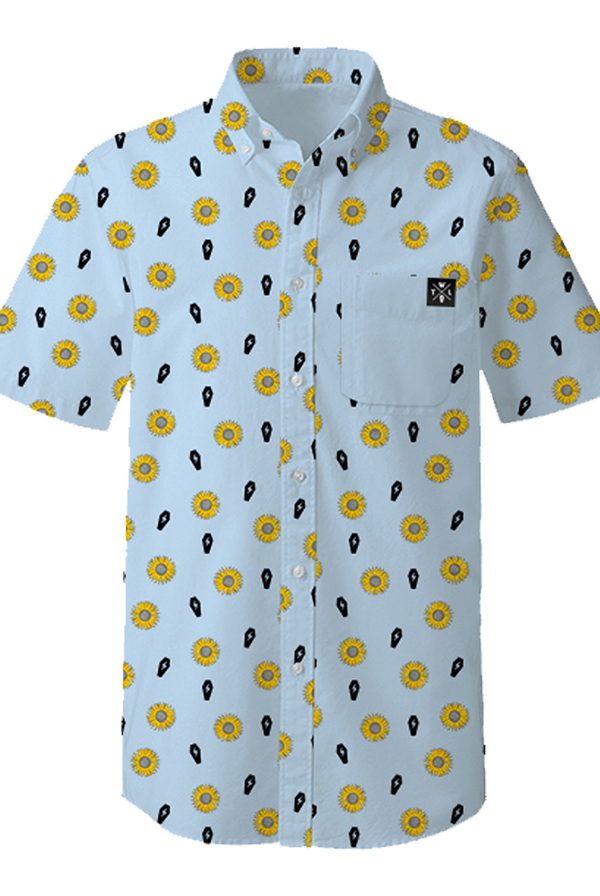 Sunflower Button Up (Light Blue)