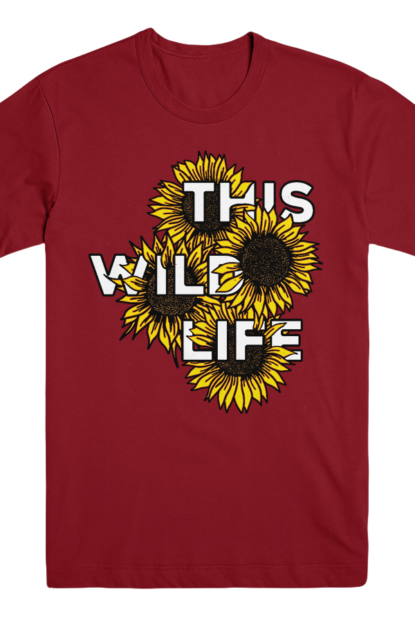 Sunflowers Tee (Red)