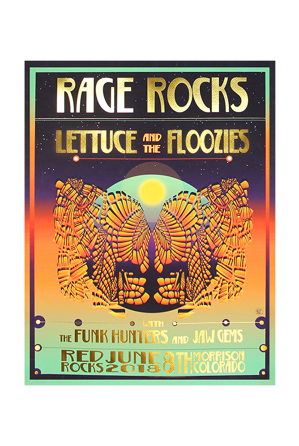 Red Rocks Screen Printed Poster