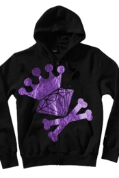 Diamond Crown Purple Foil Zip Up