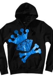 Diamond Crown Blue Foil Zip Up