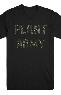 Green Plant Army Tee (Black)