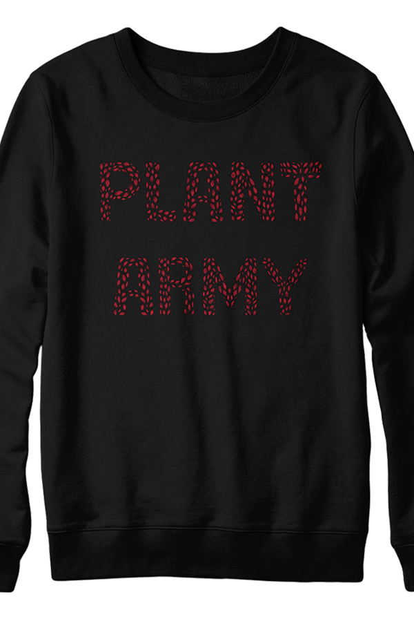 Red Plant Army Sweater (Black)