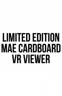 Limited Edition Mae Cardboard VR Viewer + Virtual Reality Content