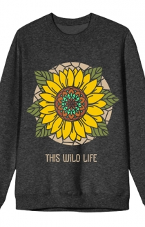Sunflower Crewneck (Charcoal Heather)
