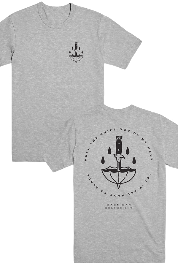 Pull The Knife Tee (Heather Grey)