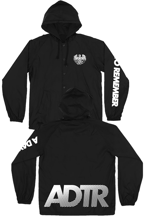 Stripes Windbreaker Jacket (Black)
