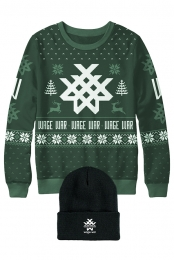 Stripes Beanie + Holiday Sweater