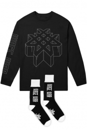 Logo Socks + Dimensional Long Sleeve Tee