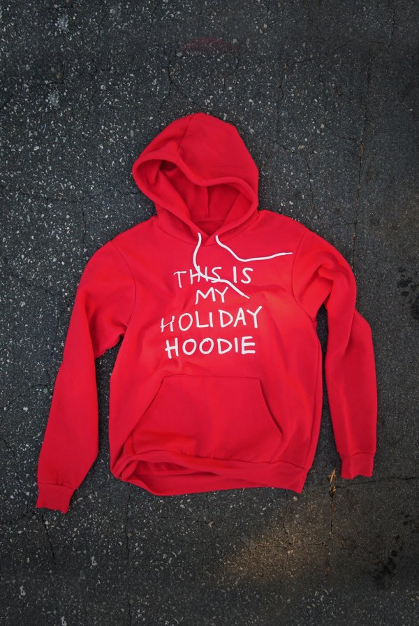 this is my holiday hoodie