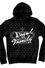 Diamond Pattern Zip Up (black)