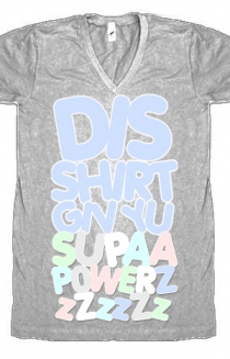 Supapwrz V-Neck (heather grey)