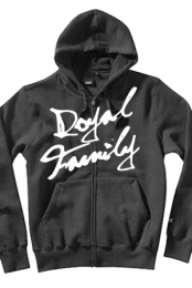 Script Zip Up Hoodie (dark grey)