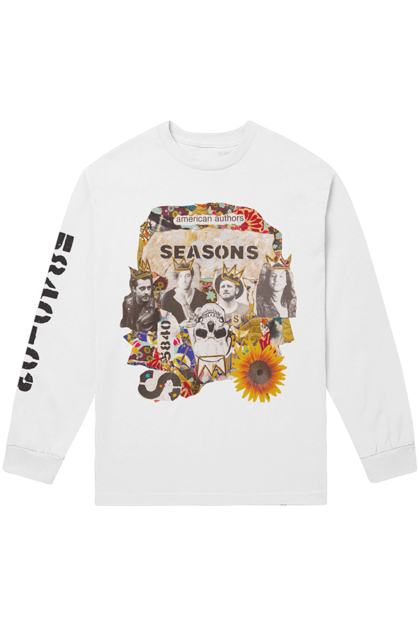 Stay Around L/S Tee (White)