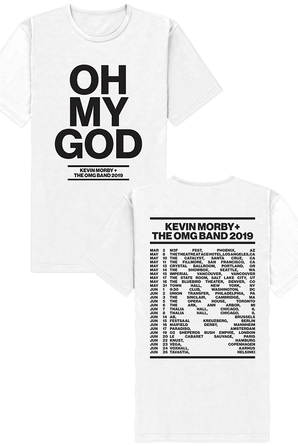 94696708 OMG Tee (White) T-Shirt - Kevin Morby T-Shirts - Online Store on District  Lines