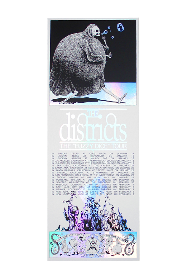 Fuzzy Dice Tour Holographic Poster