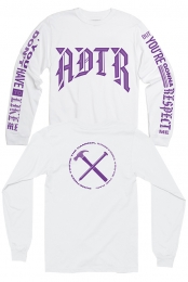 Hammer Nail Long Sleeve Tee (White) - A Day To Remember