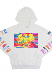 Bright Colors Pullover Hoodie (White)