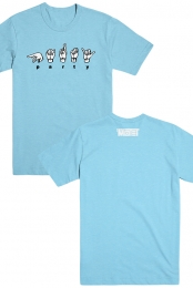 Sign Language Tee (Aqua)