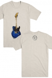 ZC Blue Tele Watercolor Tee - Zane Carney