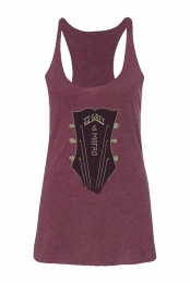 Guitar Head Ladies Tank (Maroon Triblend)