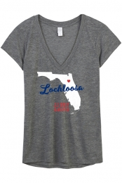 Lochloosa Ladies V-Neck (Ash Heather)