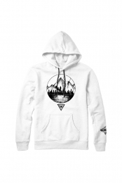 Mountain Crest Hoodie (White)