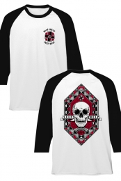 Skull Raglan (White/Black)