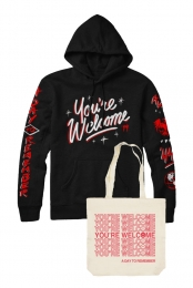 You're Welcome Pullover Hoodie + You're Welcome Tote Bag