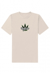 Tan Embroidered Tee - Blunts & Blondes