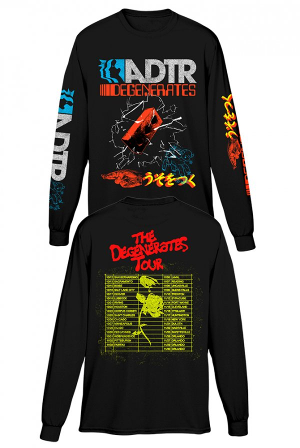 Degenerates Tour Long Sleeve Tee (Black)