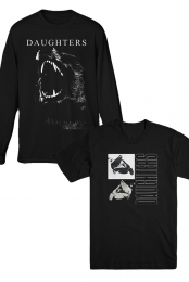 Black Wolf LS + Dove Tee