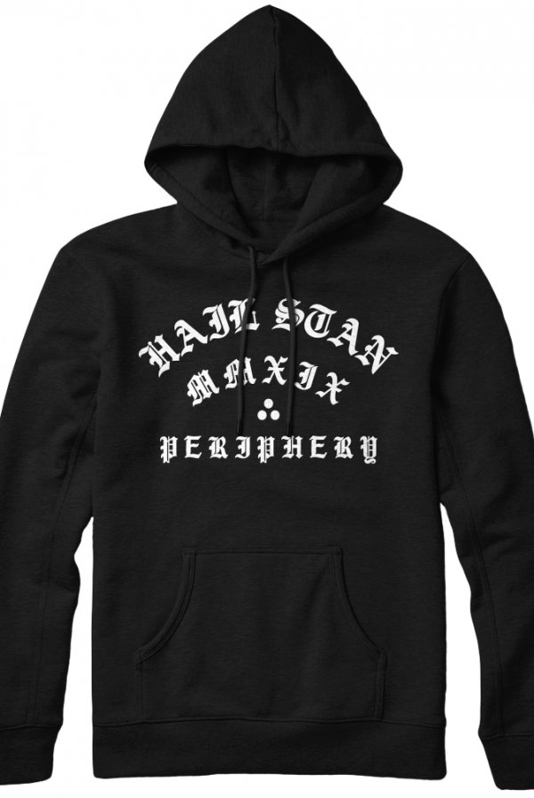 Old English Pullover Hoodie (Black)