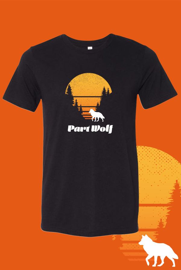 Part Wolf T-Shirt (Black)