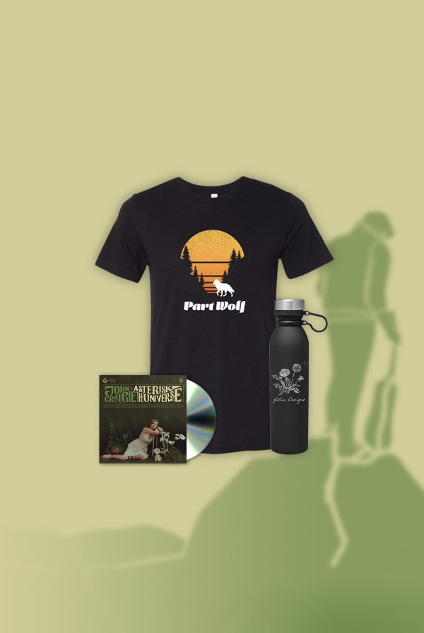 Asterisk the Universe CD (signed) + Part Wolf Tee+ Water Bottle